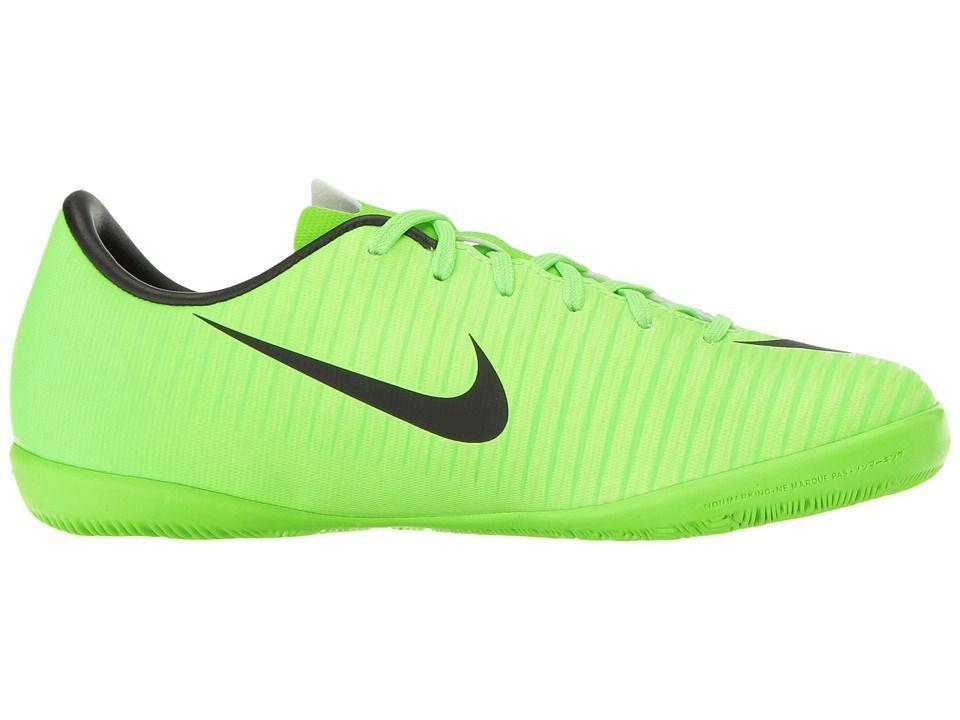 e6f214ab0c14 Nike Kids JR Mercurial Vapor XI IC Soccer (Toddler Little Kid Big Kid) Kids  Shoes Electric Green Black Flash Lime White