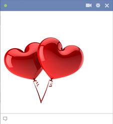 Two Heart Balloons Emoticon Love Heart Emoji Heart Balloons