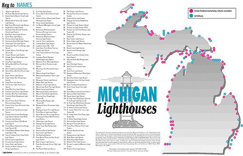 michigan lighthouses map Lighthouse Map