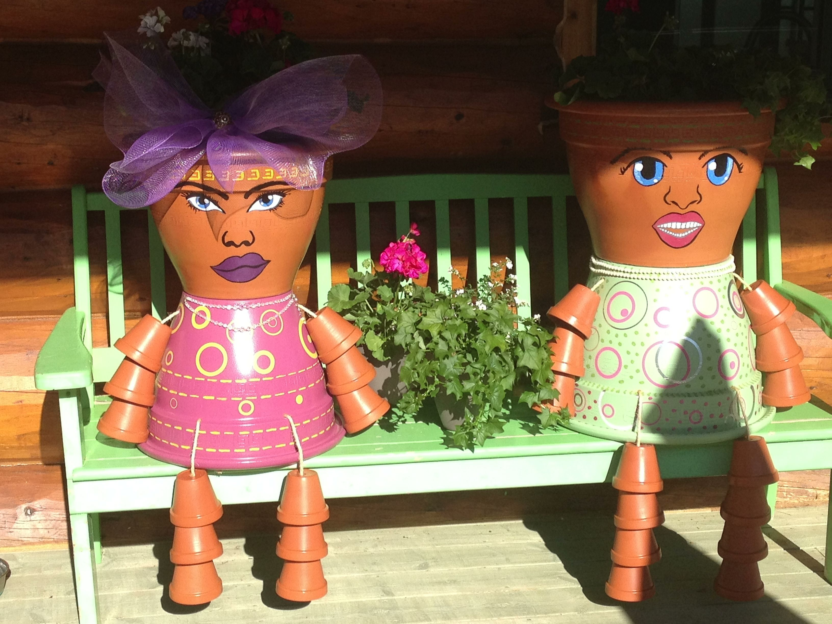 I just completed this project. Flower Pot people, they make me laugh every time I walk up to my entrance! Enjoy!