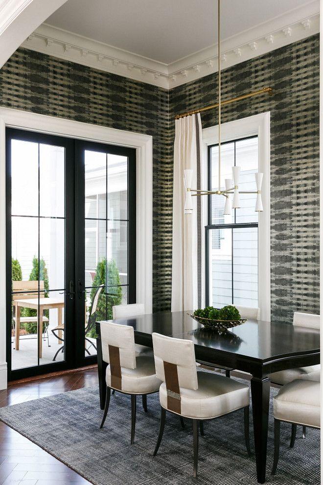 Dining Room Black Steel Windows And Black Steel Patio Doors Ramage