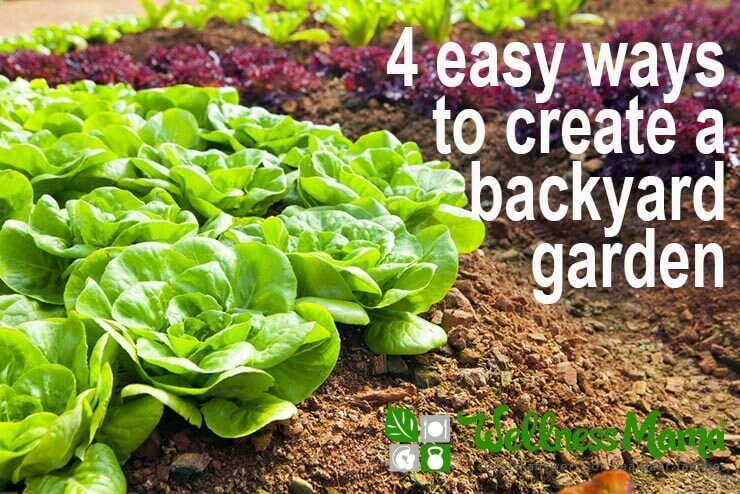 A backyard garden is a great way to grow some of your family's food, teach your children about where food comes from and get health benefits
