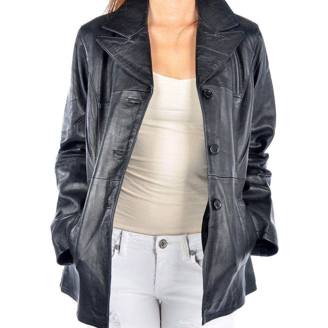 Brooklyn Womens Leather Coat