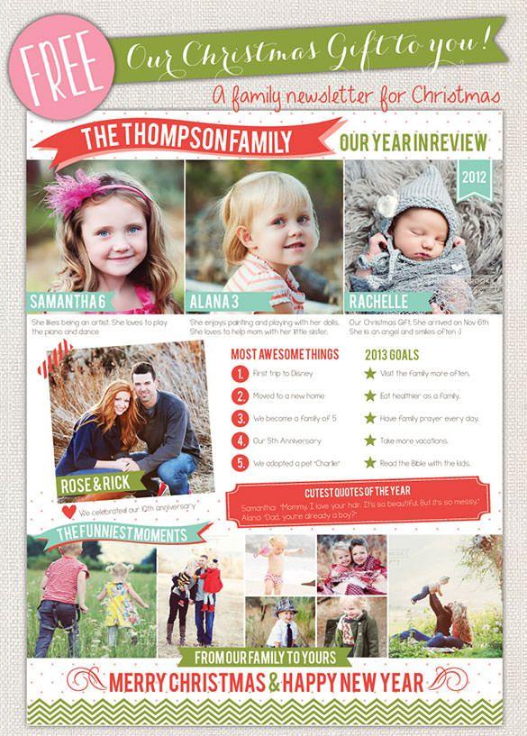 28+ Christmas Newsletter Templates Christmas lettering