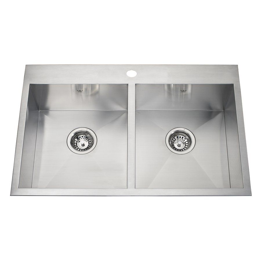 Kindred 20-Gauge Drop-In or Undermount Stainless Steel Kitchen ...
