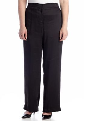 Jones New York Signature  Plus Size Full Length Elastic Waist Pant