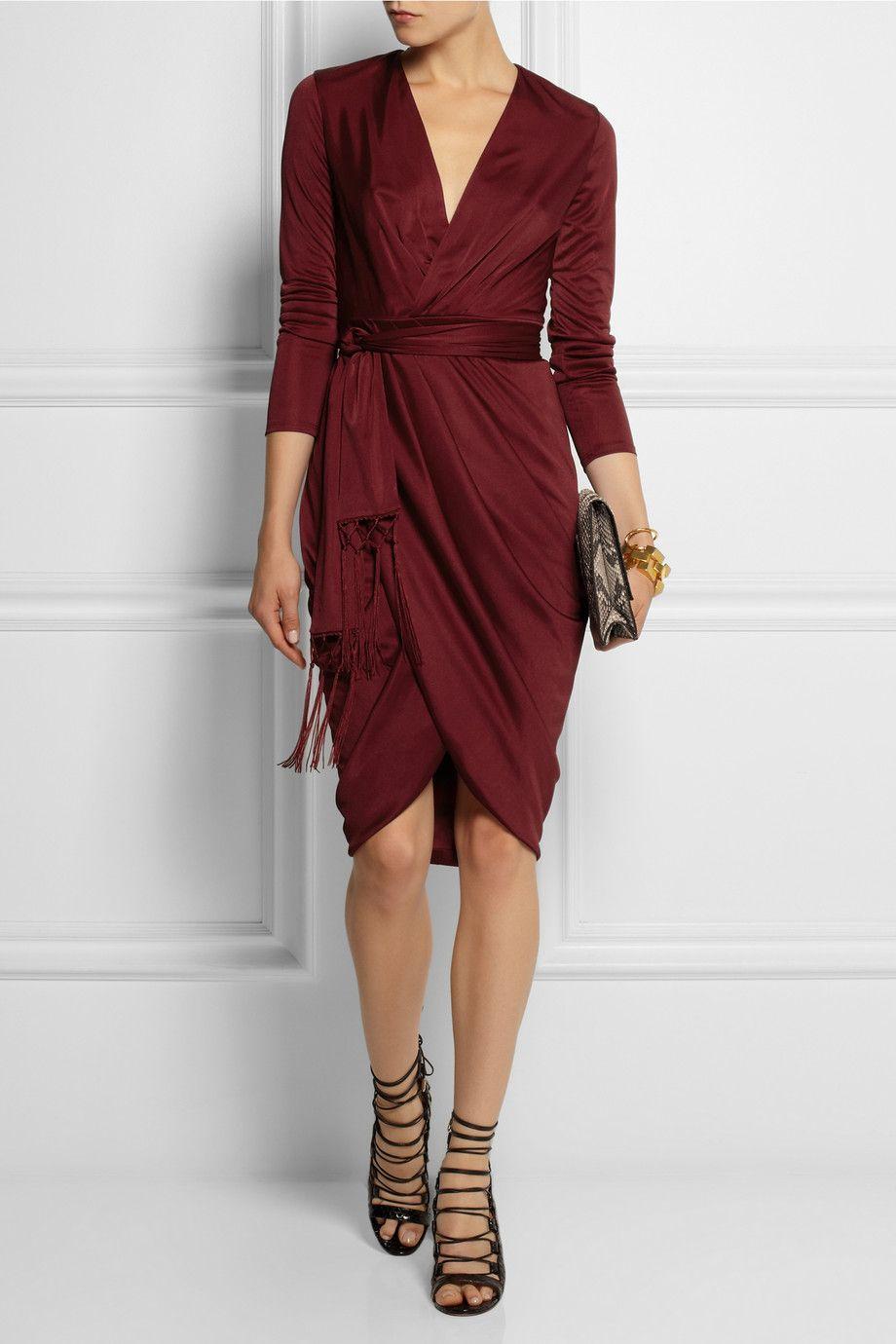 Altuzarra for Target | Wrap-effect satin-jersey dress | NET-A-PORTER ...