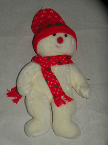 0cf695b1cf1 RARE Retired Ty Beanie Baby Snowboy The Christmas Snowman Beanie Buddy 14  5