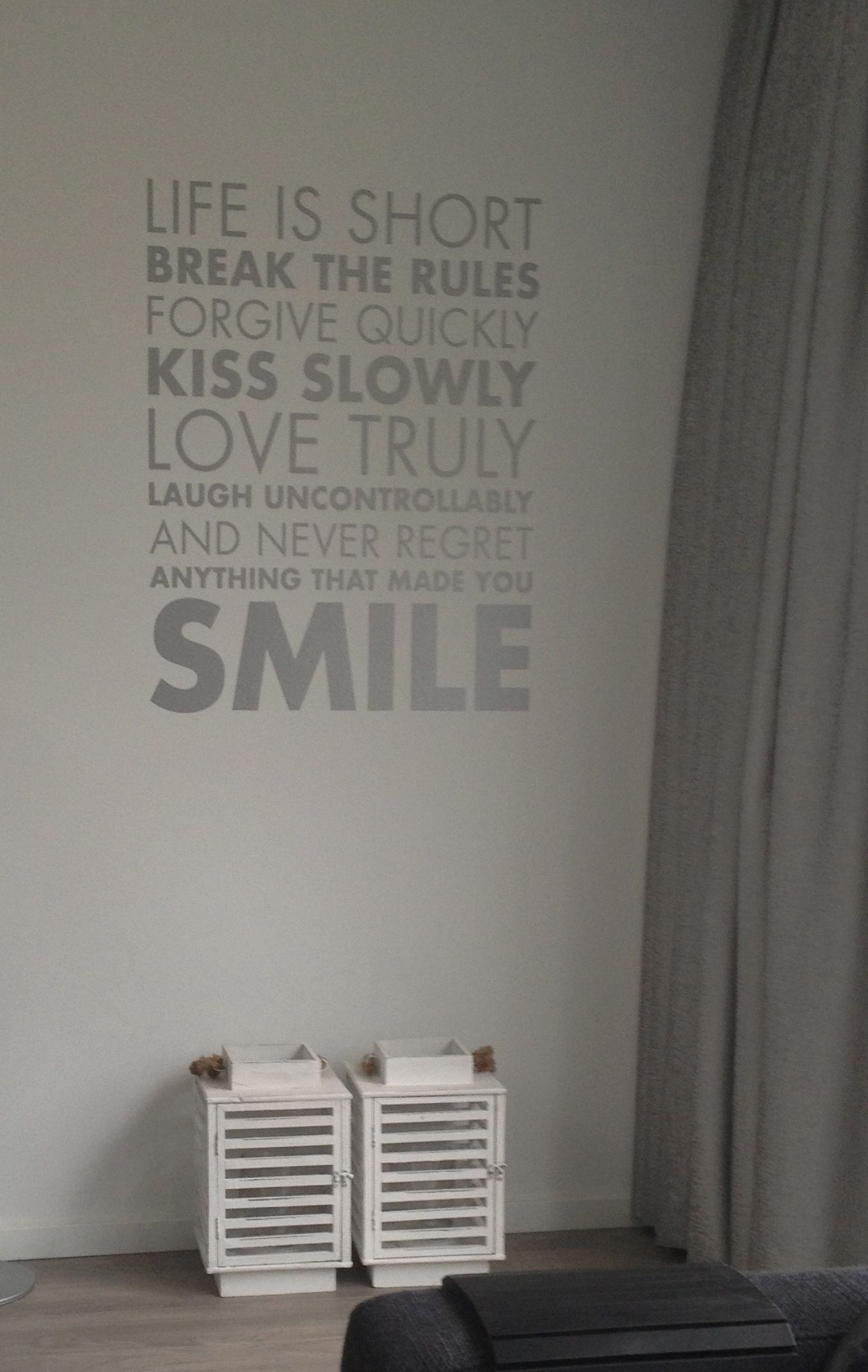 Muursticker woonkamer wall deco livingroom made bij myself my own ideas - Eigentijdse woonkamer deco ...