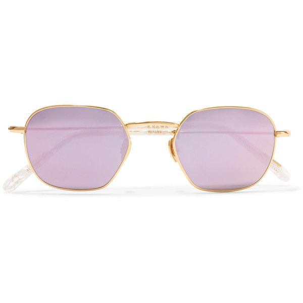 Ward Square-frame Gold-plated And Acetate Mirrored Sunglasses - one size Krewe r9zALnZ