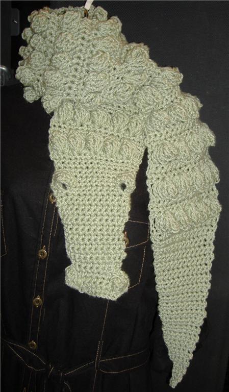 Crocheted Alligator Scarf Alligators Scarves And Crochet
