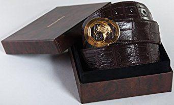 88720cb058 STEFANO RICCI Original Leather Belts For Men 100% Crocodile Aligator Leather