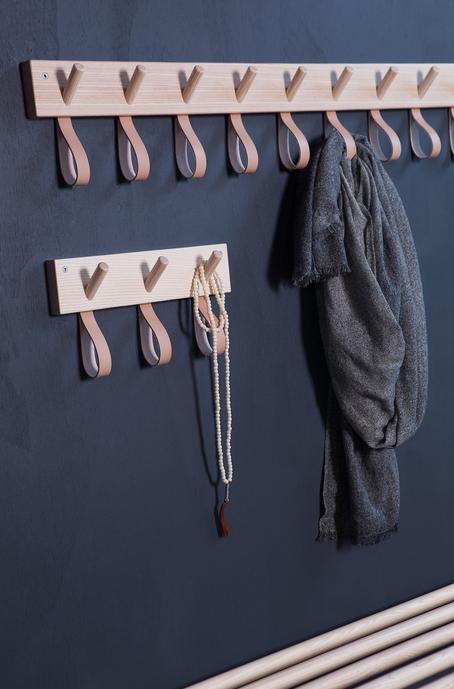 Great hooks and loops storage from Formbruket & Smålands skinnmanufaktor for Granit