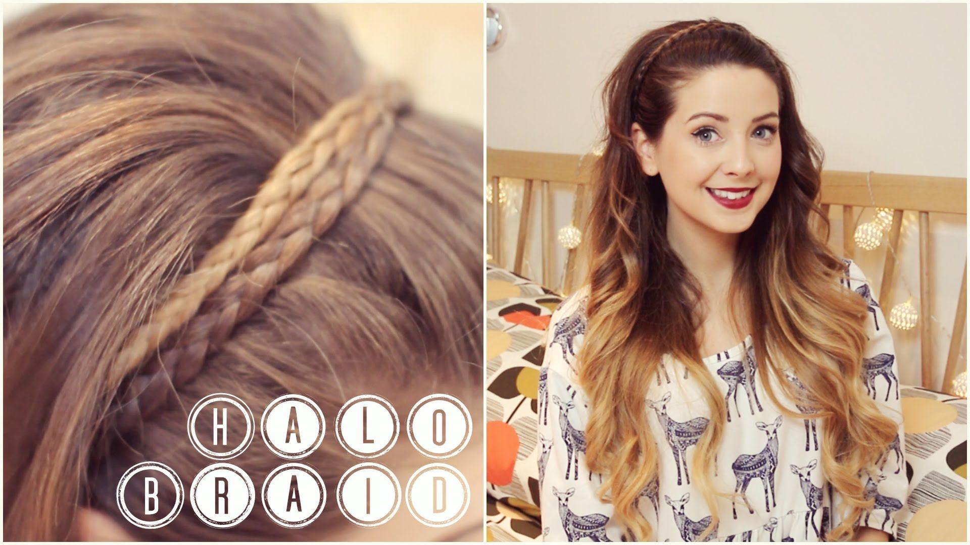 "how to achieve a quick and easy ""halo braid"" i did tell you it was"