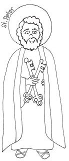 Saints Coloring Pages Peter And Paul Sunday School Coloring