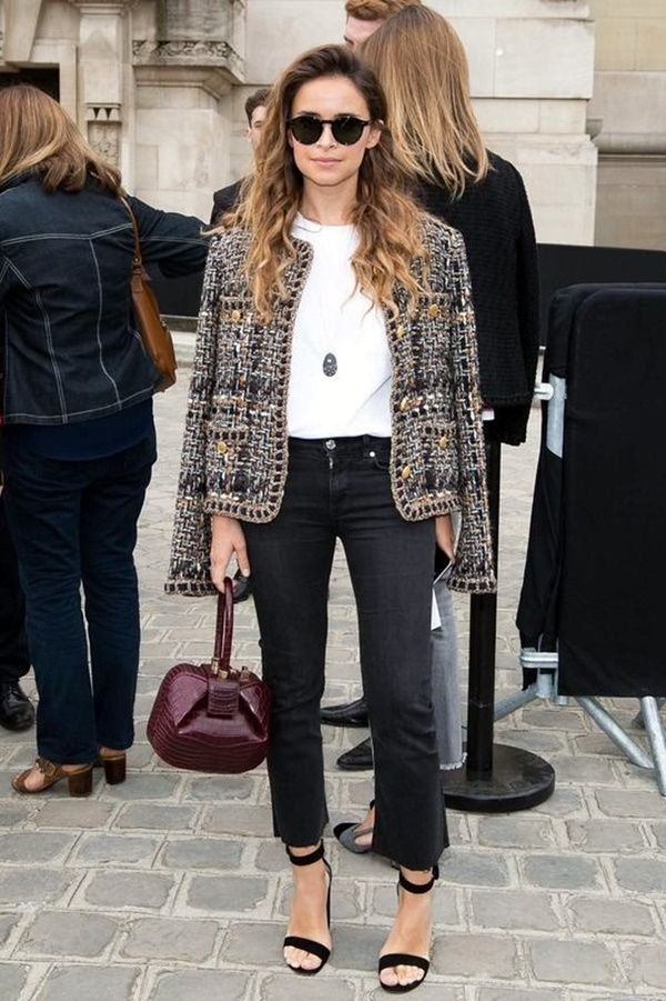c638779e26f 30 Chic-ish Ideas To Wear Tweed Jacket Outfits This Winter   jackets ...