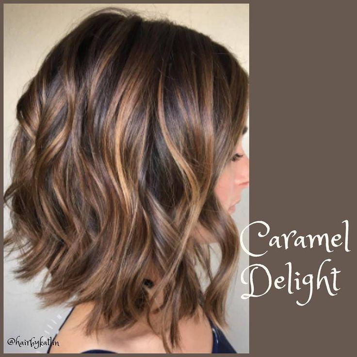 Caramel highlights on dark brown hair –  #brown #caramel #Dark #hair #highlights