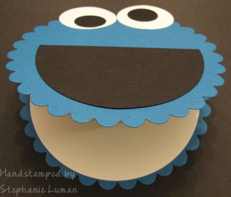 Pin By Rhonda Mccullough On Cardmaking Monster Birthday Invitations Cookie Monster Birthday Monster Cookies