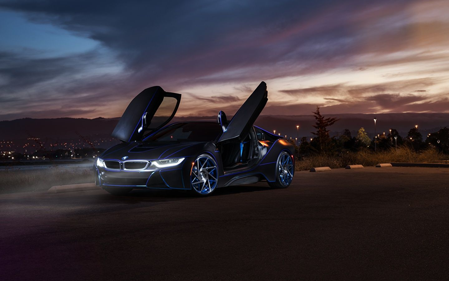 Bmw I8 At Night Wallpaper 1080p Bmw Bmw I8 Supercars Wallpapers