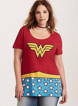 09ebebf8 Wonder Woman Costume Tee, RED | Clothes | Trendy plus size fashion ...