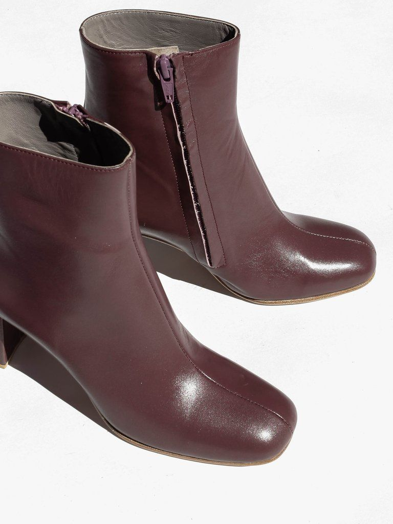 Maryam Nassir Zadeh - Agnes Boot - Plum Calf