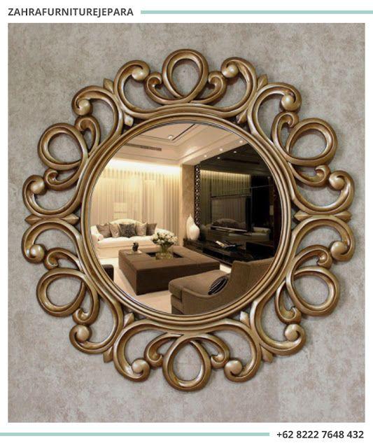 Cermin Dekoratif Bundar Cermin Hias Dinding Cermin Cermin Dinding Perhiasan Unik