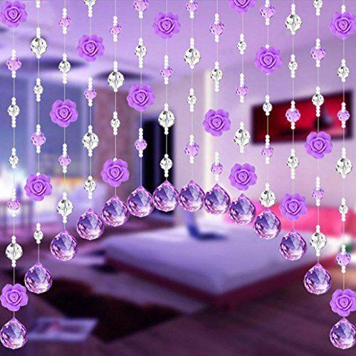 Kaufen Rose Blumenform Kristallglas Perlen Vorhang Luxus Wohnzimmer