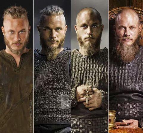 My eye candy during Christmas break!  Ragnar's evolution (s01, s02, s03, s04)