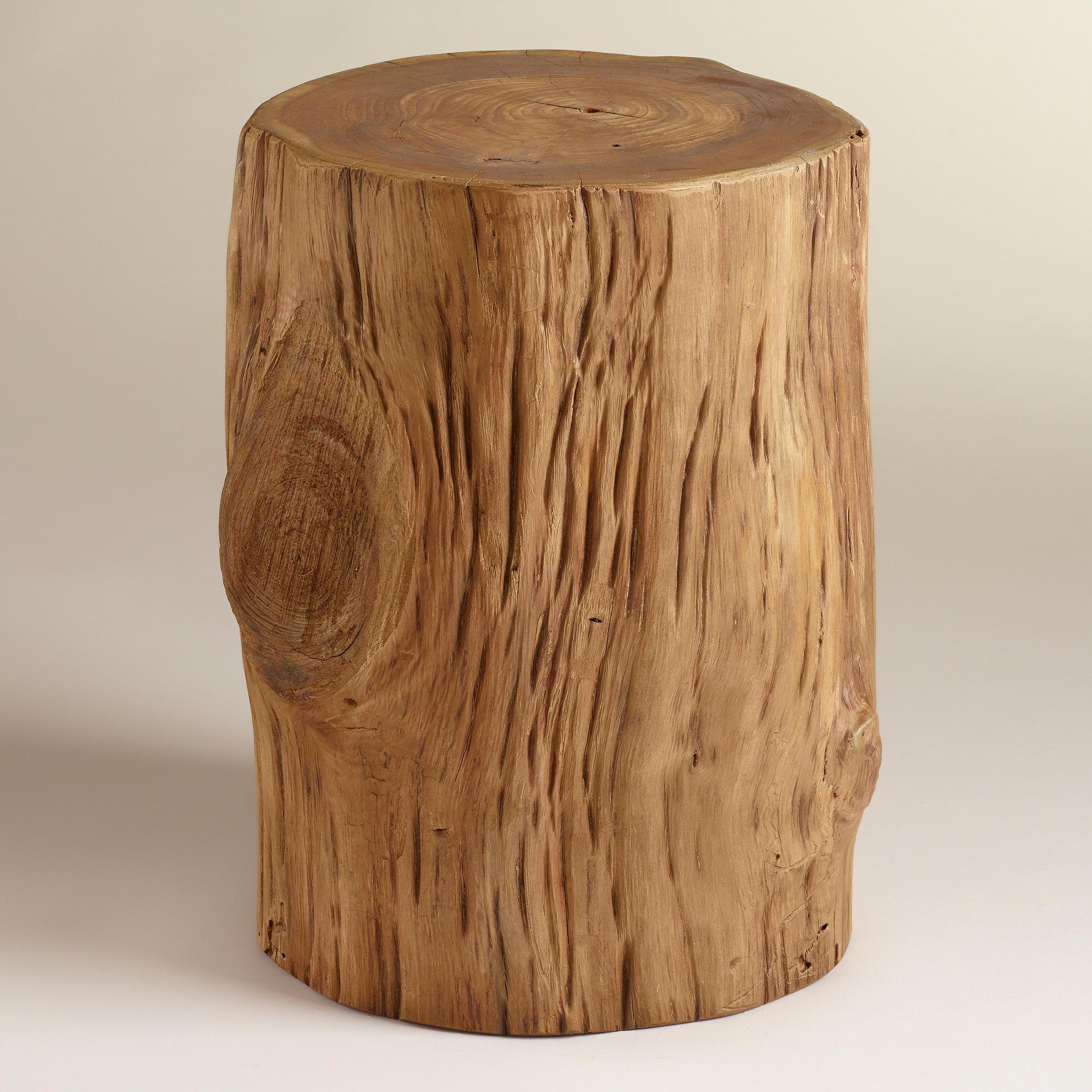 Teak Tree Stump Table - World Market
