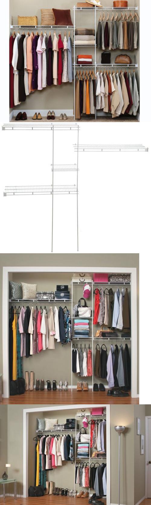 Closet organizers closet organizer shelves system kit shelf