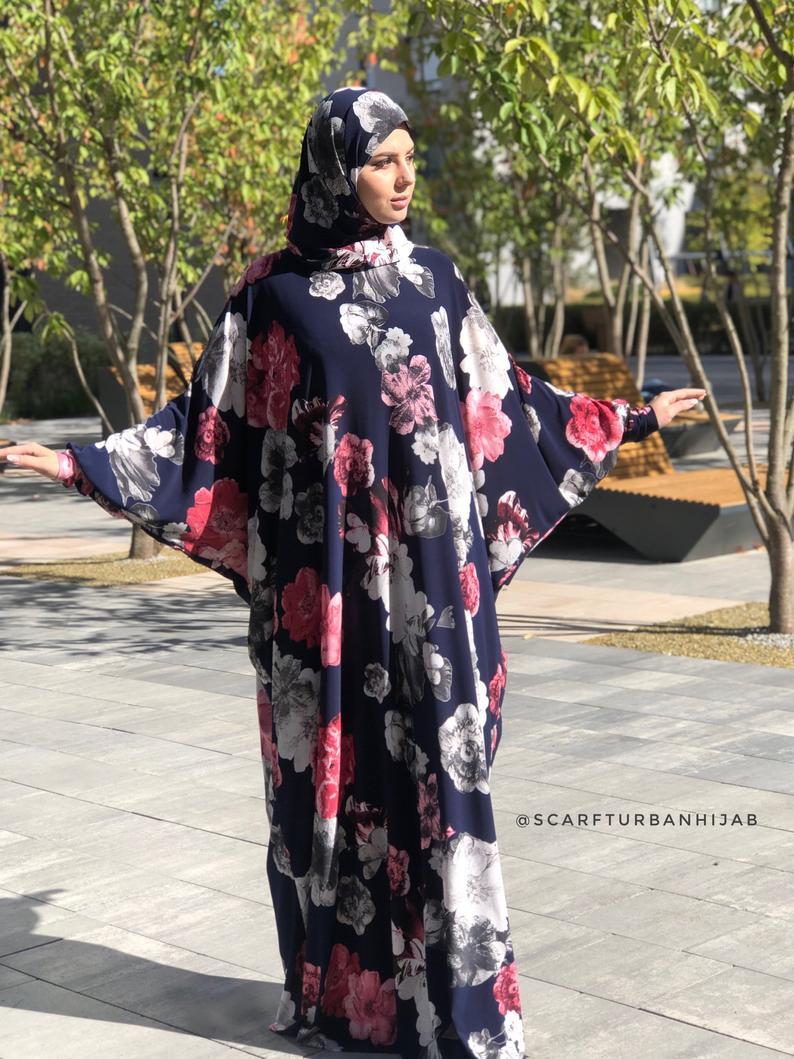 Wonderful roses Maxi Dress Elegant Prayer dress Farasha | Etsy -   17 beauty Dresses hijab ideas