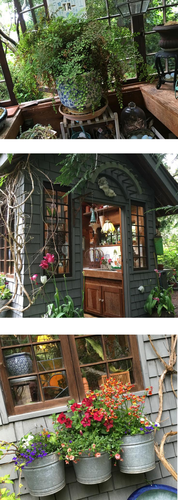 Gorgeous Rustic Garden Potting Shed - Take A Tour