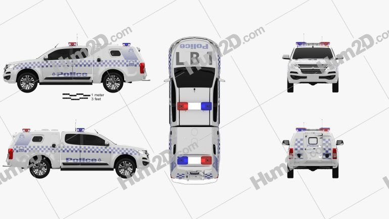 Holden Colorado Space Cab Divisional Van 2018 Clipart Download Vehicles Clipart Images And Illustrations In Png Psd Holden Colorado Crew Cab Clip Art