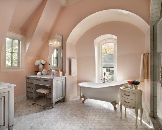 Blush Shade Walls Gorgeous Country Style Bathrooms Country Bathroom Designs Grey Bathrooms Designs