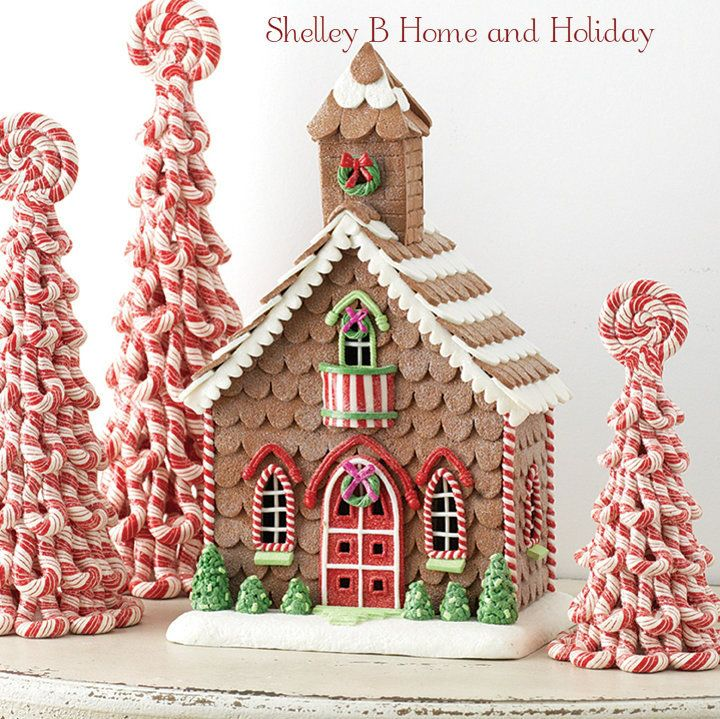 gingerbread church christmas decoration shelley b raz 2016 christmas decorations and. Black Bedroom Furniture Sets. Home Design Ideas