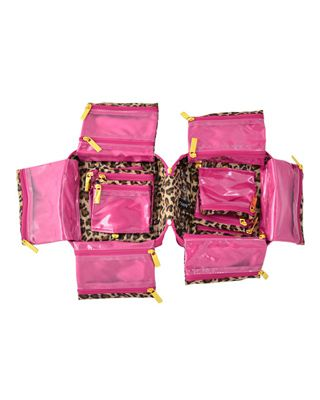 PurseN Large Tiara Jewelry Case in Hot Pink/Leopard $54