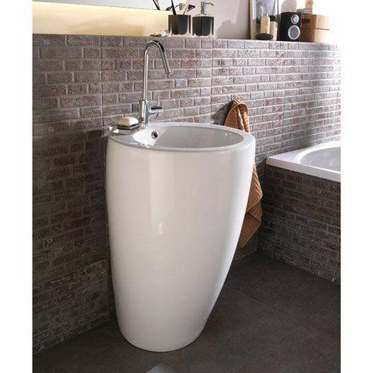 Lavabo Colonne En Ceramique Blanc Icone Lavabo Colonne Lavabo Renovation Salle De Bain