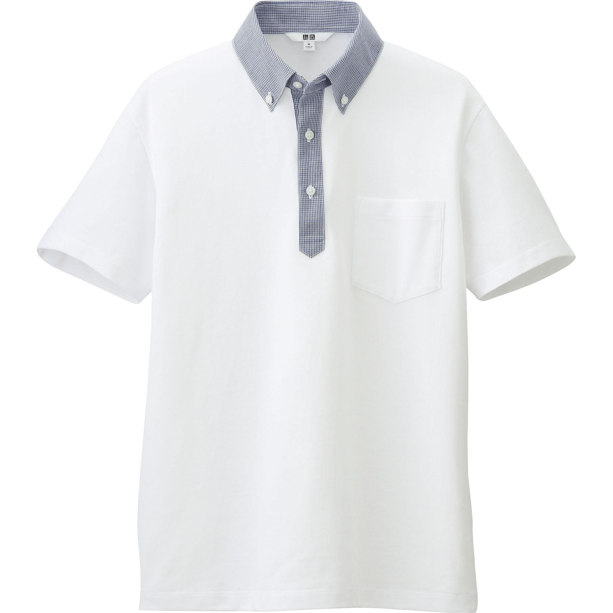MEN DRY SHIRT COLLAR POLO SHIRT (BUTTON-DOWN)   UNIQLO   Shirts ...