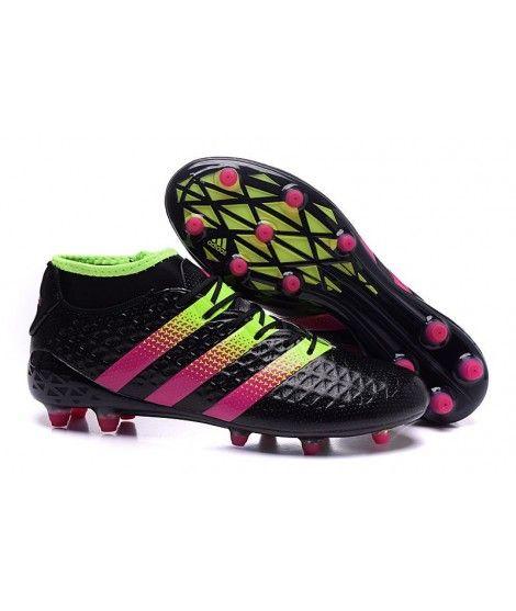 Adidas ACE 16.1 Primeknit FG PEVNÝ POVRCH Černá Zelená