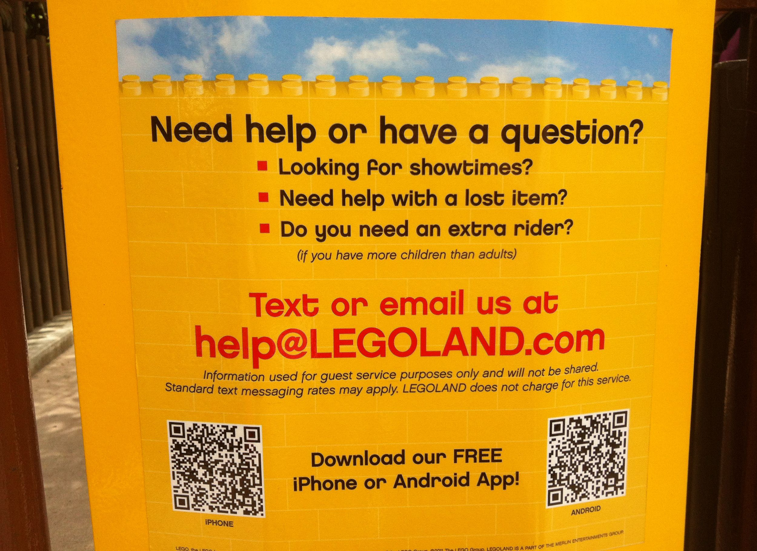 LegoLand is in on the action as well. | Guest services ...