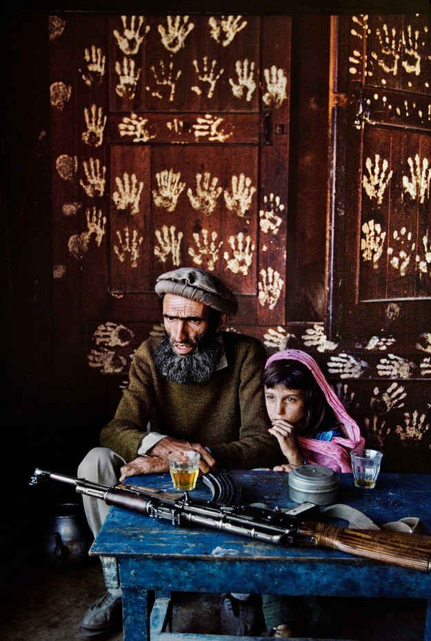 'Father and daughter at home in Nuristan', 1992.