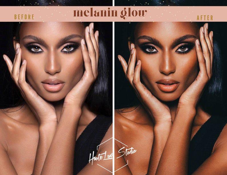 10 Melanin Glow Mobile Presets Dark Skin Brown Skin Preset Etsy Colors For Skin Tone Brown Skin Skin Shades
