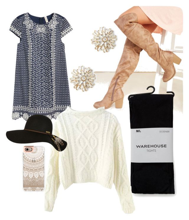 Boho sweater weather by karah-west on Polyvore featuring polyvore, fashion, style, H&M, Warehouse, Wet Seal, Sole Society, Billabong and Casetify
