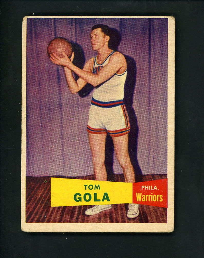 1957 1958 Topps Tom Gola Philadelphia Warriors 44 Basketball