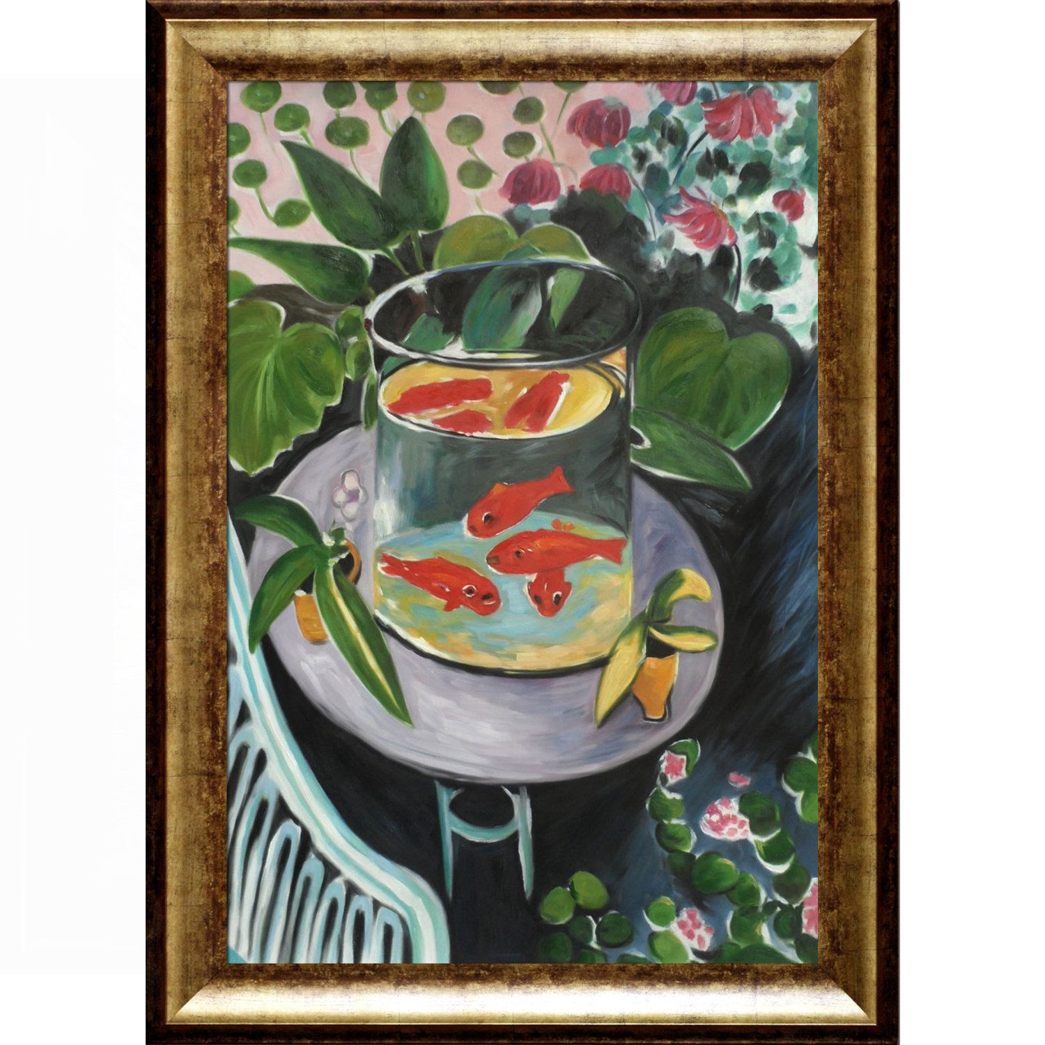 La Pastiche Henri Matisse \'The Fish\' Hand Painted Framed Oil ...