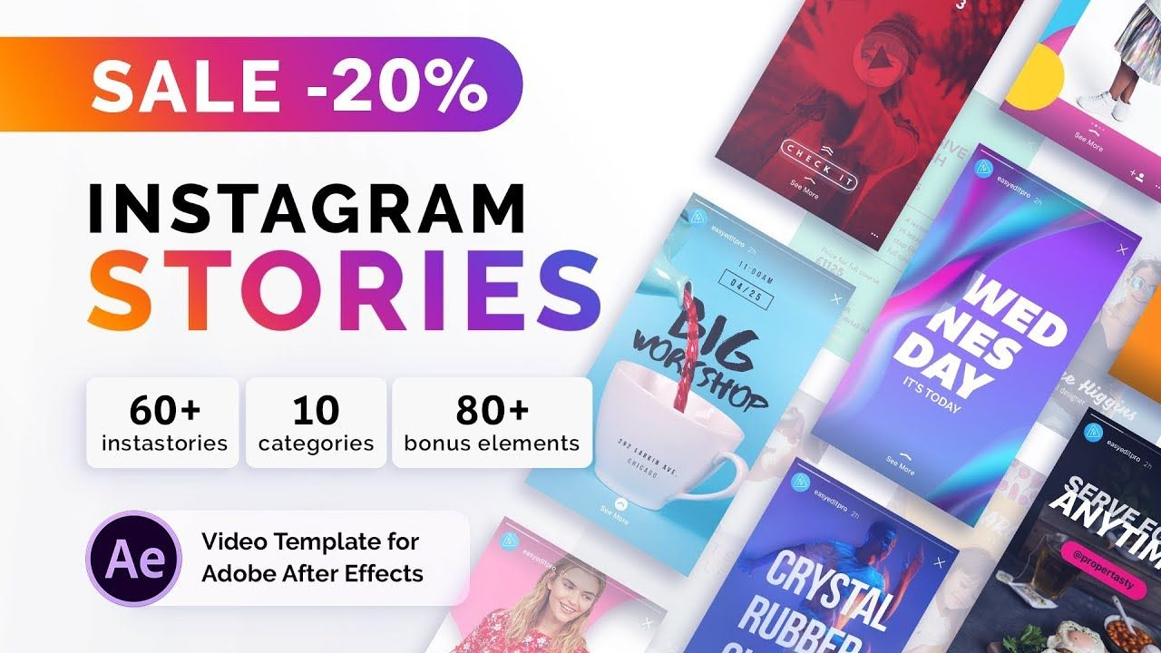 Instagram Stories After Effects Template Instastories Redes Sociais Identidade Visual
