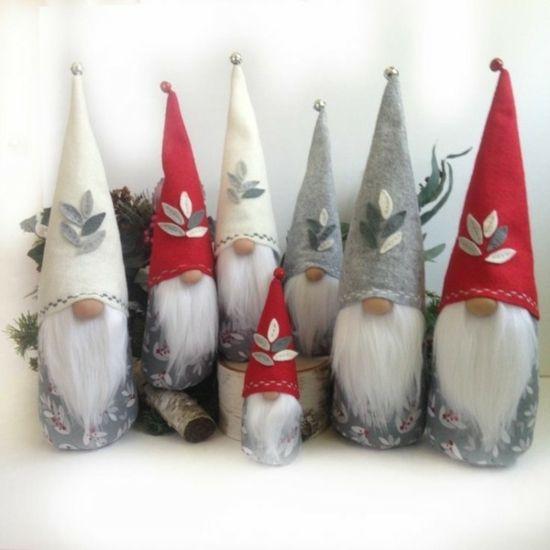Lutins De Noel à Fabriquer Gnome de Noël à fabriquer soi même   idées et instructions