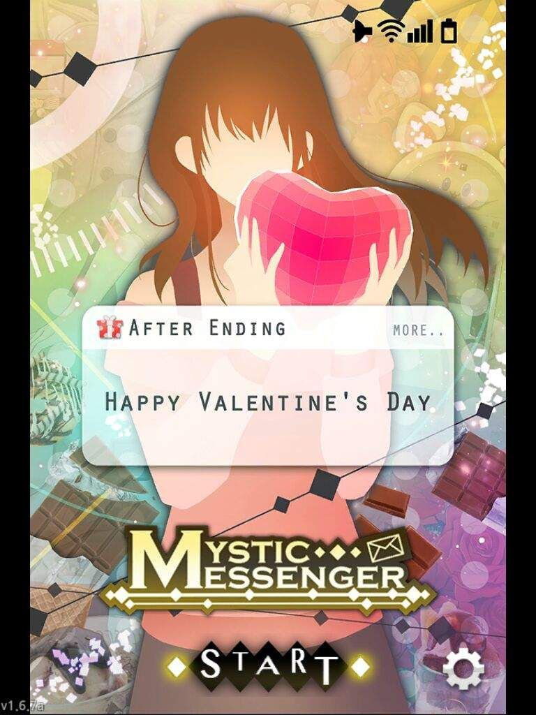 Opening Screen Valentine S Day 2017 Mystic Messenger Mystic