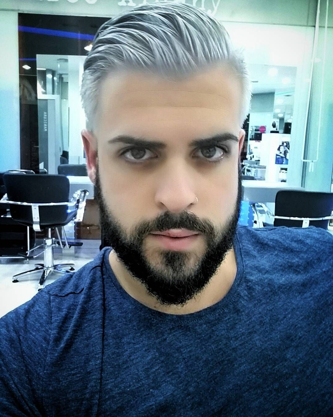 pin by jack scott on men s color silver hair men grey