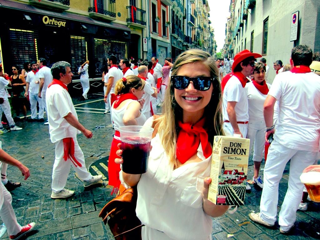 The San Fermín Festival takes place in Pamplona, Spain every year. You may have never heard of the actual festival but it's internationally recognized for the famous Running of the Bulls. It has been a dream of mine to participate in the festivities and I finally got to turn that dream into reality!    The opening ceremony,